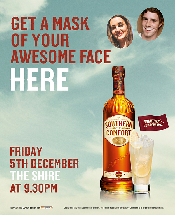 Southern Comfort Promotion @ The Shire Bar - Friday 5th December
