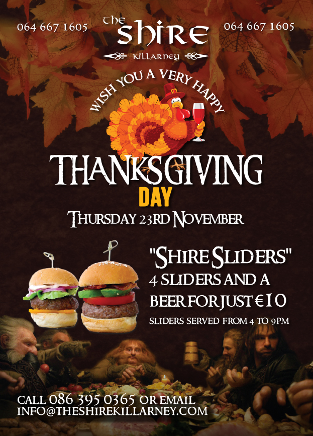 Celebrate Thanksgiving Day at The Shire