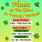 Music at the Shire for St. Patrick's Weekend
