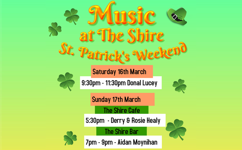 Music at The Shire this St. Patrick's Day weekend