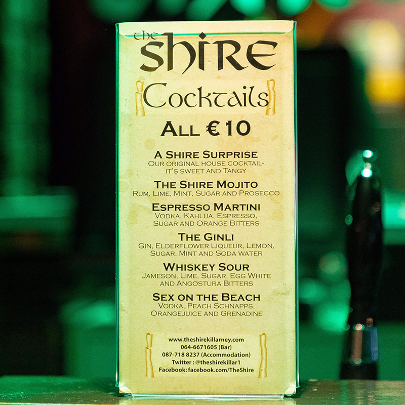 The Shire Cocktails