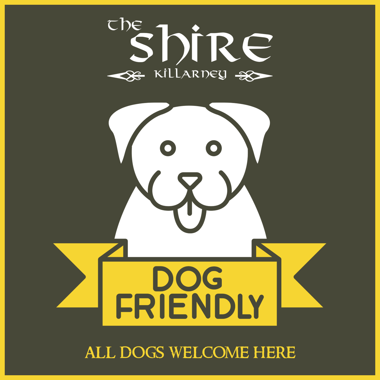 The Shire is a dog friendly cafe and bar/pub. All dogs are welcome here and we have designated areas for dogs with owners.